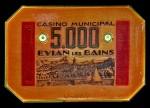 PLAQUE EVIAN 5000