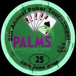 PALMS BLACKJACK TOURNAMENT 25