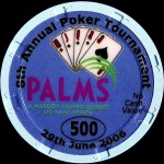 PALMS BLACKJACK TOURNAMENT 500