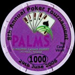 PALMS BLACKJACK TOURNAMENT 1000