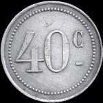 ROYAT 40 c Jeton aluminium
