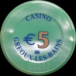GREOUX LES BAINS  5 €