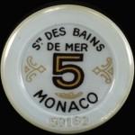 Jeton 5 Monaco