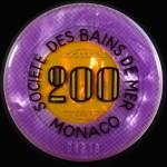 Jeton 200 Monaco