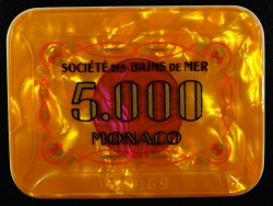 Plaque 5000 Jaune Monaco