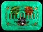 Plaque 10 000 Vert Monaco