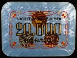 Plaque 20 000 Blanc Monaco