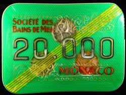 Plaque 20 000 verte Monaco