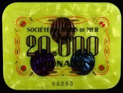 Plaque 20 000 Jaune Monaco