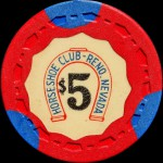 HORSESHOE  CLUB -RENO-5-$