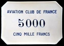AVIATION CLUB DE FRANCE  5 000