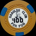 HAROLD CLUB Reno 100 $