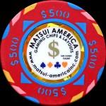 MATSUI CASINO CHIPS 500 $