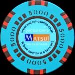 MATSUI CASINO CHIPS 5 000 $