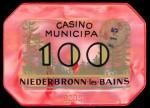 Plaque NIEDERBRONN 100