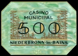 Plaque NIEDERBRONN 500