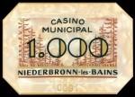 Plaque NIEDERBRONN 1000