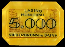 Plaque NIEDERBRONN 5000