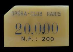 OPERA CLUB - PARIS 20 000 NF