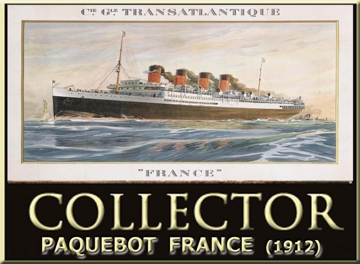 COMPAGNIE GENERALE TRANSATLATIQUE - PAQUEBOT France 1912